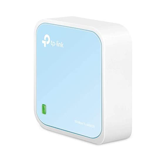 TP-Link Wireless N300 Travel Router, Nano Size, Router/AP/Client/Bridge/Repeater Modes, 300Mbps, USB Powered (TL-WR802N)