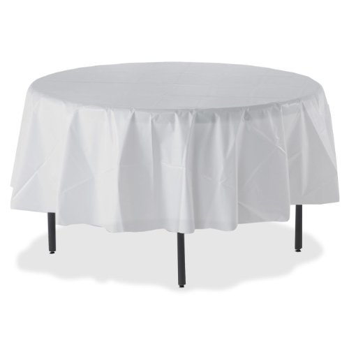 Genuine Joe GJO10330CT Table Covers for Table Top, Break Room Supplies, Plastic, Round (Pack of 24) by Genuine Joe