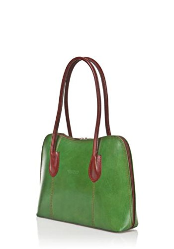 Made Italy In Vera Donna Mainapps Borsa Pelle Shoes Verde Di Zeta Vitello qUzA81