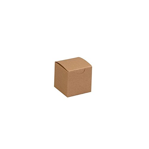 Box Packaging Gift Box, Kraft, 2'' x 2'' x 2'' - Case of 200 by Box Packaging