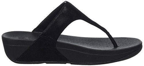 Shimmy Suede Toe Post - Black Glimmer