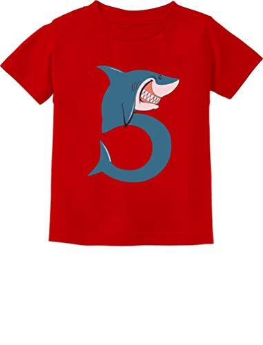 TeeStars - 5th Birthday Shark Party Gift for