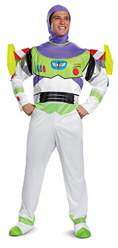 Disguise Men's Disney Pixar Toy Story and Beyond Buzz Lightyear Deluxe Costume, White/Green/Red/Purple, XX-Large -