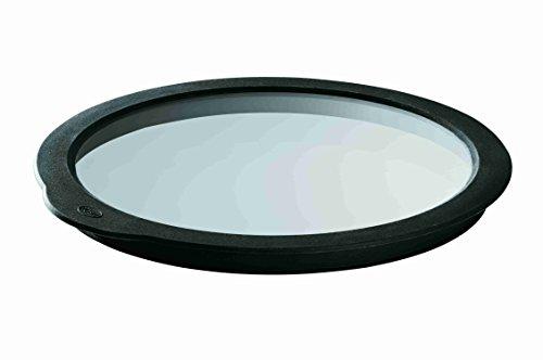 Rösle 15730 Frischhaltedeckel aus Glas und Silikon, 16 cm Durchmesser