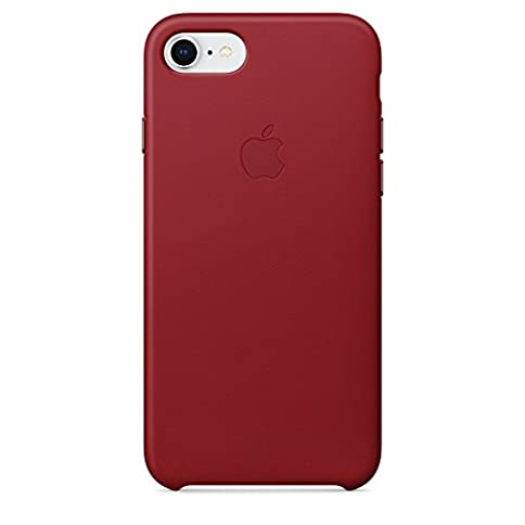 - 31JGL 2BSQB4L - Apple iPhone 8/7 Leather Case – Red, MQHA2ZM/A