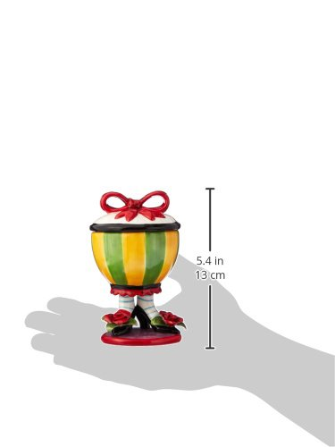 Appletree 4-3//4-Inch Sugar High Social by Babs Ceramic Mug with red bow