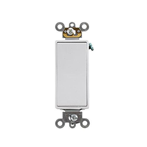 Leviton 5624-2W 20-Amp 120/277-Volt Decora Plus Rocker 4-Way AC Quiet Switch, White ()