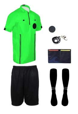 NEW! 2018 Pro Soccer Referee Package (7 Piece) (Green, Adult -