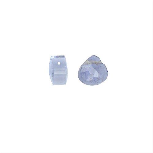 Iolite Gemstone (Iolite Gemstone Beads, Faceted Heart Briolettes 4x5mm, 6 Pieces, Blue)