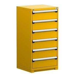 Rousseau Heavy Duty Stationary Cabinet (with Compartments), 6 Drawers  (30u0026quot;