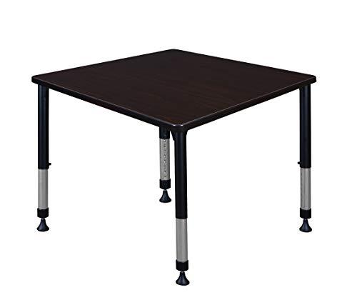 Regency A-KTHA3636DBBK Kitt Height Adjustable Square Classroom Table, 36