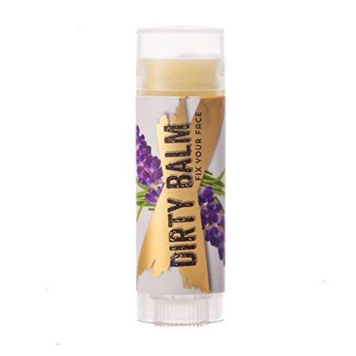 The Dirt All Natural Dirty Balm Lip Treatment - Essential Oils and Bees Wax - Lavender Palmarosa