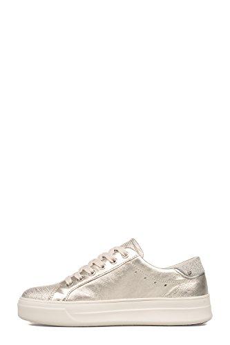 Kriminalitet London Dame 25602ks126 Silber Leder Sneakers nJ0cbtgr9