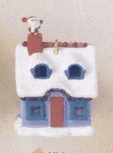 1995 Santa's Visit Miniature Hallmark - Santa Ornament Plastic