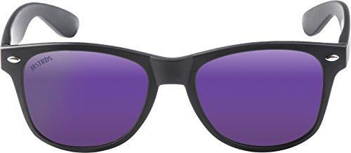 Mixte Black Noir Lunettes MSTRDS de 4443 Mirror Purple Soleil Likoma Schwarz Y8w6X
