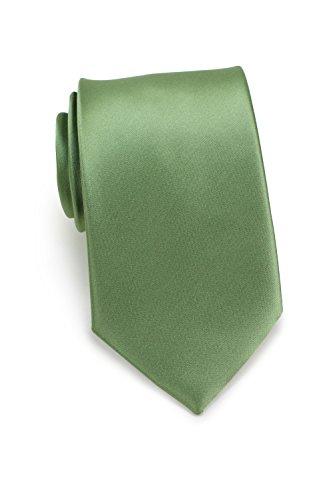 Bows-N-Ties Men's Necktie Solid Color Microfiber Satin Tie 3.25 Inches (Sage -