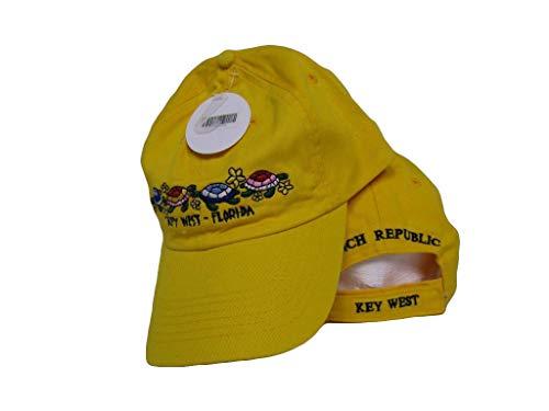 Key West Conch Republic Yellow Turtle Turtles hat ()