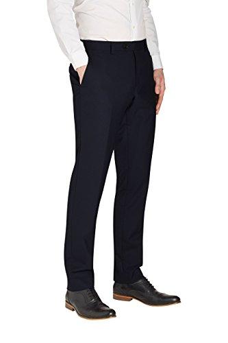 next Homme Costume 100% laine: Pantalon Bleu 32 / Short - Slim Fit