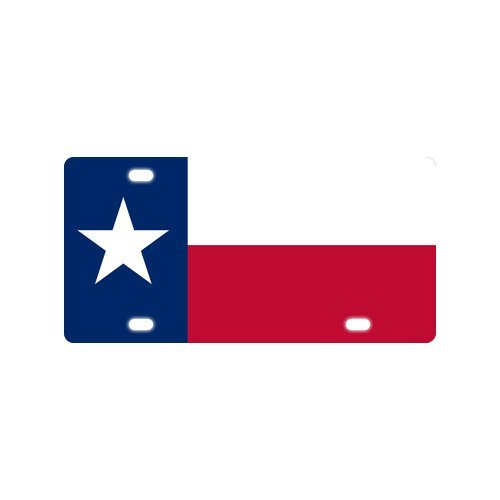 Texas Falg Novelty Stylish Durable And Strong Aluminum Car License Plate 12