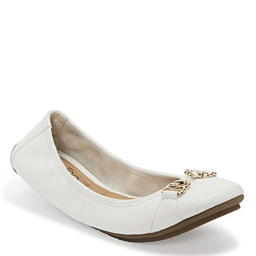 Me Too OLYMPIA1 Women's Leather Flat Shoe White Nappa