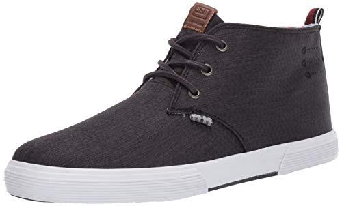 Ben Sherman Men's Bradford Chukka Sneaker, Black Nylon, 10 M US