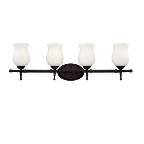 Eurofase 23038-035 Regency 4-Light Bath Bar Bathroom Light Bulb, Oil Rubbed Bronze by Eurofase by Eurofase