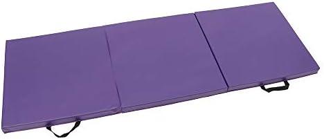 体操用マット 折りたたみ体操マットパネル体操マットジムエクササイズヨガパッドトレーニングプロテクティブギア 体操トレーニング用マット (色 : Purple, Size : One size)