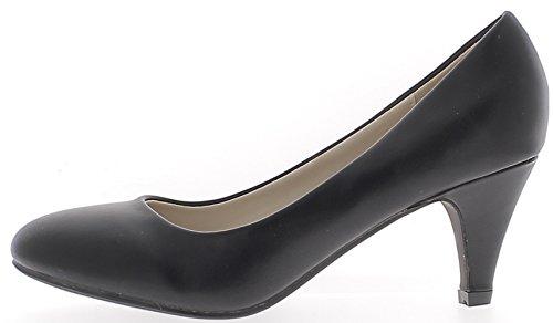 Escarpins classiques noirs à petits talons de 6,5cm