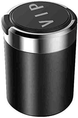 ポータブルで掃除が簡単 光車の灰皿を持つ大容量 車、オフィス、家、バー、宴会、その他の機会に適しています (Color : Black)