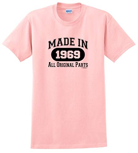 50th Birthday Gifts for Dad 50th Birthday Gift Made 1969 All Original Parts T-Shirt XL Light Pink