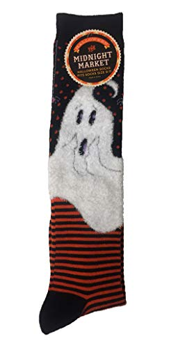 (The Midnight Market Women's Halloween Knee Socks Black Orange White)