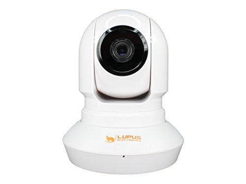Lupus Electronics LUPUSNET HD LE200, dreh und schwenkbare WLAN Netzwerkkamera für Innenbereich, Infrarot Nachtsicht, Mikrofon und Lautsprecher integriert, weiß, 10200