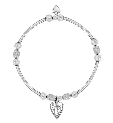 Lily & Lotty - Bracelet - Argent - 925/1000 - Argent - Rond - Transparent - Diamant - Femme