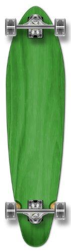 YOCAHER New Complete Longboard KICKTAIL 70's shape skateboard w/ 71mm wheels, Green - Kicktail Longboard