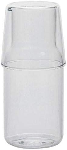 Andifany Caraffa per Acqua con Bicchiere Bicchiere per Bottiglia di Acqua Calda Fredda Set di Tazze Brocca dAcqua da Comodino Bottiglia Resistente alle Alte Temperature