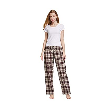 CYZ Women's 100% Cotton Woven Sleep Pajama Pants at Women's Clothing store