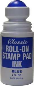 - Roll-on Stamp Pad Ink - Blue