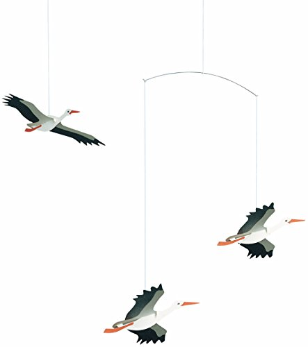 Flensted Mobiles Danish Lucky Storks Hanging Mobile - 18 Inches Cardboard by Flensted Mobiles