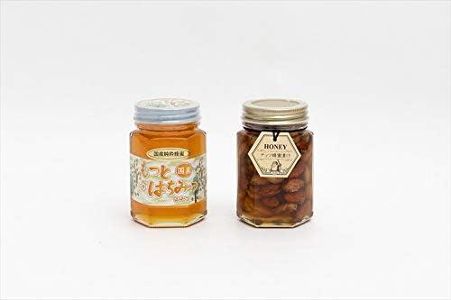 【国産純粋ハチミツ・養蜂園直送】山蜂蜜 ナッツ蜂蜜漬 各180g