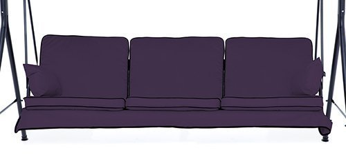 Purple Complete Replacement Cushions Set for 3 Seater Swing Seat Hammocks Gardenista