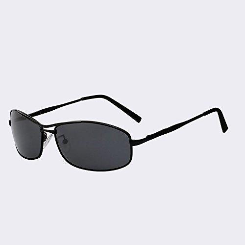 gafas hombres en moda Retro sol w metal Gafas de W Vintage la UV400 CAFÉ masculina TIANLIANG04 diseñadora sol Black de hombres gafas polarizadas MARRÓN Rectángulo Gafas de black de Pn8OxpUqIw