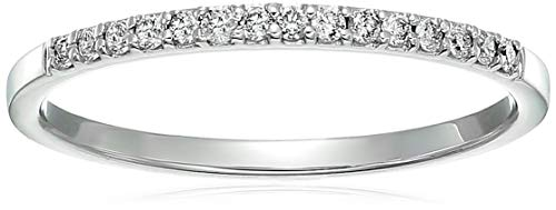 - Vir Jewels 1/8 cttw Petite Diamond Wedding Band in 10K White Gold In Size 8