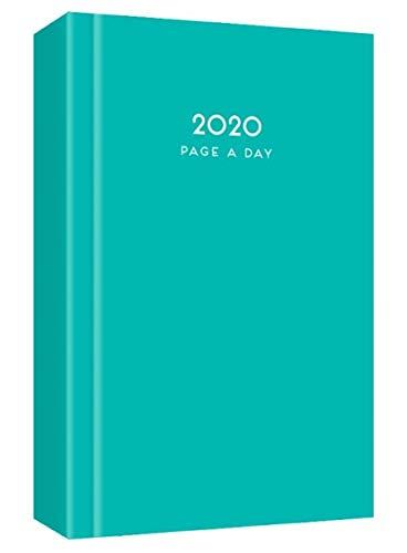 MantraRaj 2020 - Agenda de 2020, tamaño A4, para el día a día, para oficina, hogar, viajes, organización, citas, color turquesa