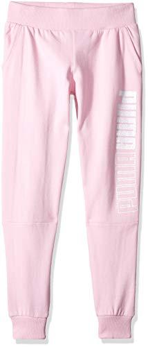 PUMA Big Girls' Fleece Joggers, Pale Pink Small (7)