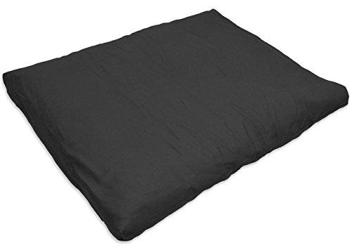 YogaAccessories Cotton Zabuton Meditation Cushion - Black