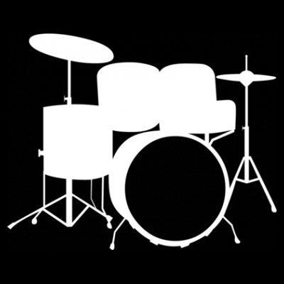 Sudadera con capucha de mujer batería Drums by Shirtcity Negro