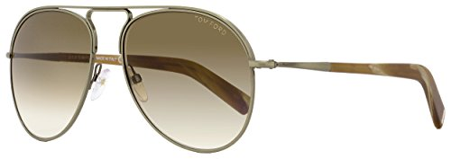 Tom Ford Sunglasses TF 448 Cody 33F Gold With Multicolor Brown - Ford Round Sunglasses Tom