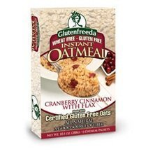 GlutenFreeda Foods, Instant Oatmeal Cranberry Cinnamon, 6ct., 10.1oz [pack of 8] by Glutenfreeda Foods Inc.