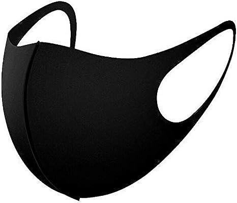 Flex-Fit Face Masks (Black - 4 Pack)