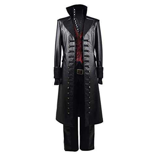 Beauty Costume Mens Cosplay Costume Red Vest PU